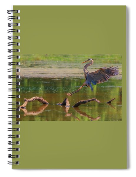 Heron Landing  Spiral Notebook
