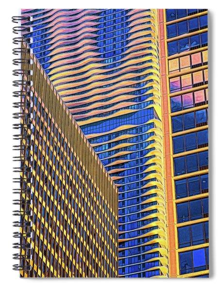 Hi Rise Patterns Spiral Notebook