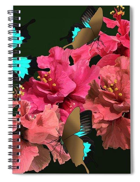 Hibiscus Butterfly Joy Spiral Notebook