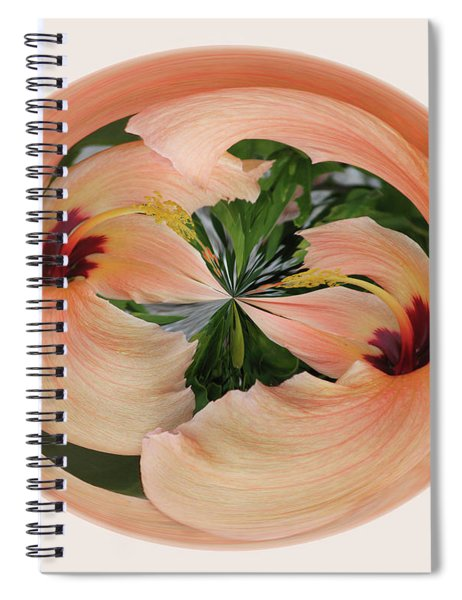 Hibiscus Card Spiral Notebook