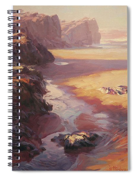 Hidden Path To The Sea Spiral Notebook