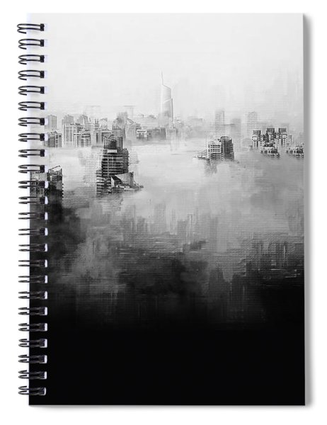 Spiral Notebook featuring the digital art High Society by ISAW Company