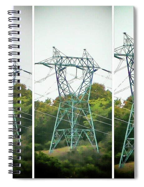 High-voltage Power Transmission Towers 1 Spiral Notebook