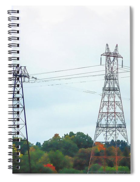 High-voltage Power Transmission Towers  2 Spiral Notebook