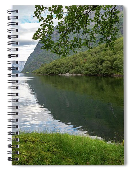 Hiking The Old Postal Road By The Naeroyfjord, Norway Spiral Notebook