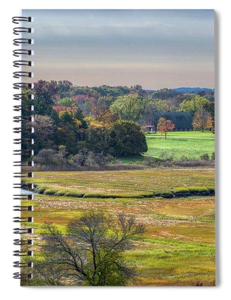 Hill Top View, Estuary Crane Estate Spiral Notebook