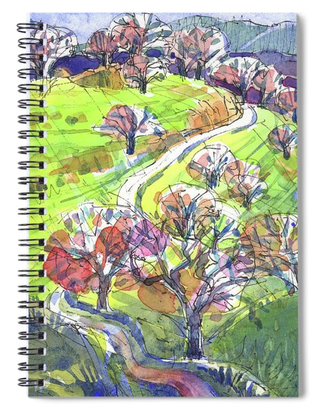 Hilly Landscape In California Spiral Notebook