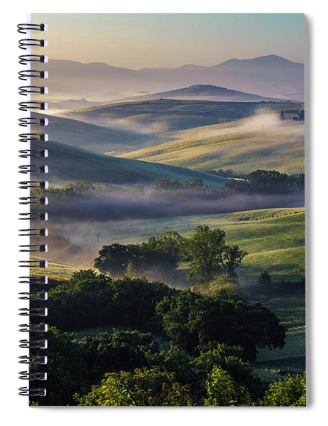 Hilly Tuscany Valley Spiral Notebook