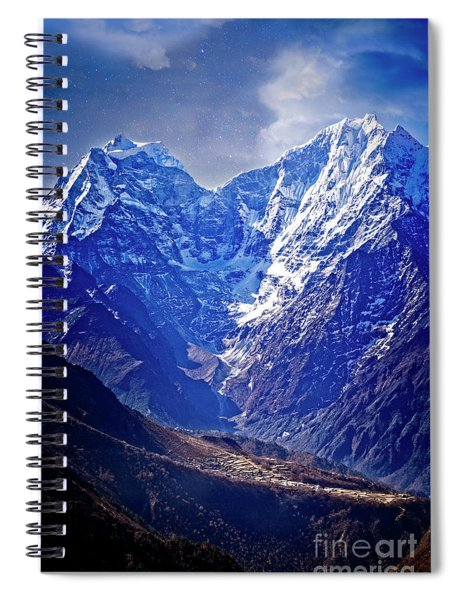 Himalayan Village Spiral Notebook by Scott Kemper