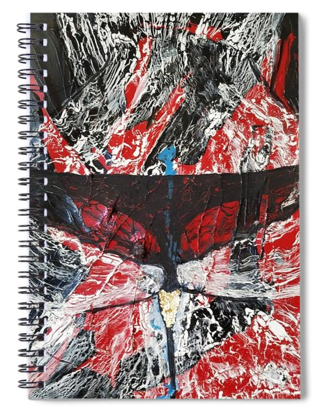 His Fiery Darkness Is Free Spiral Notebook