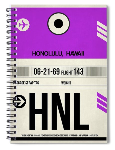 Hnl Honolulu Luggage Tag I Spiral Notebook