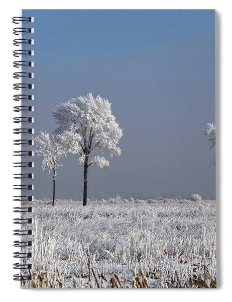 Hoar Frost At Bvg 2018-4 Spiral Notebook