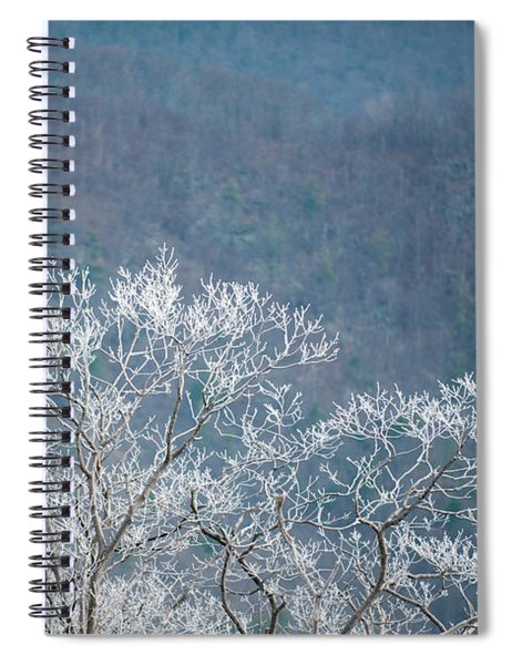 Hoarfrost Collects On Branches Spiral Notebook