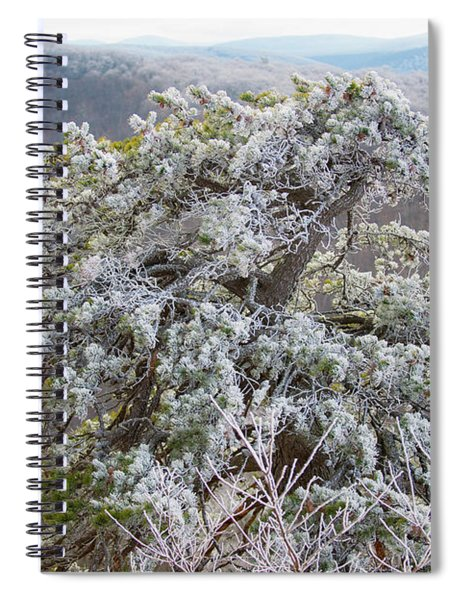 Hoarfrost On Trees Spiral Notebook