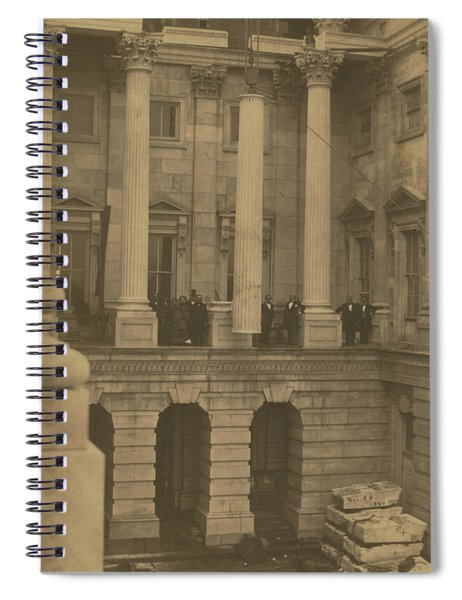 Hoisting Final Marble Column At United States Capitol Spiral Notebook