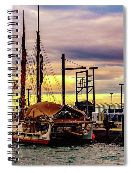 Hokulea Docked Spiral Notebook