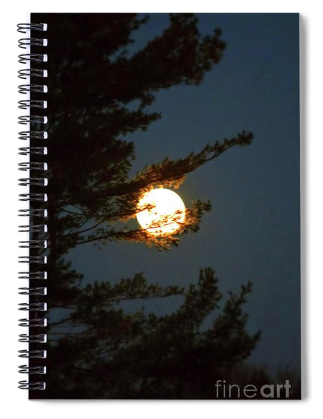 Spiral Notebook featuring the photograph Hold The Moon by Patti Whitten