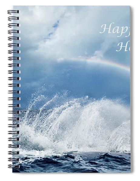 Holiday Card Resounding Joy Spiral Notebook