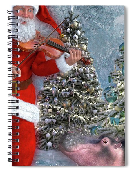 Holiday Hippo Dancing Cheer Spiral Notebook