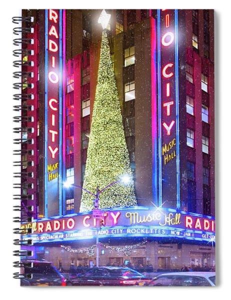 Holiday Season At Radio City Music Hall  Spiral Notebook