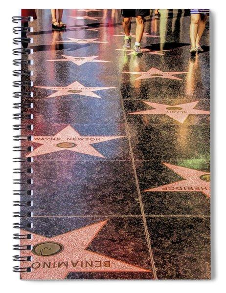 Hollywood Walk Of Fame Spiral Notebook by Christopher Arndt