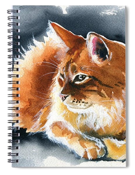 Holy Ginger Fluff - Cat Painting Spiral Notebook