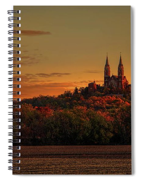 Holy Hill Sunrise Panorama Spiral Notebook