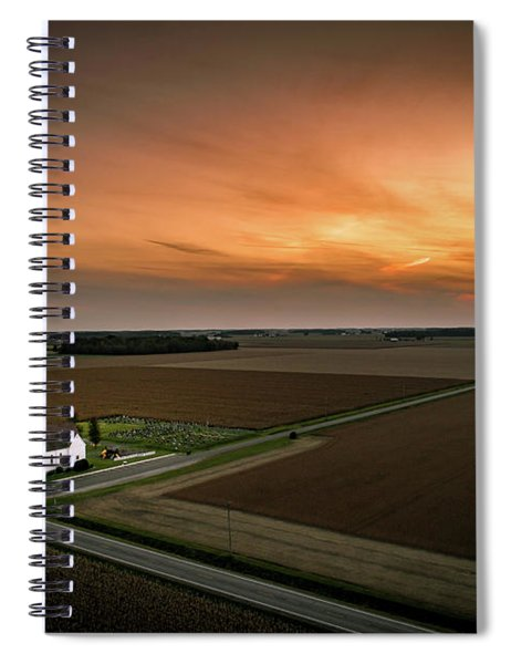 Holy Sunset Spiral Notebook