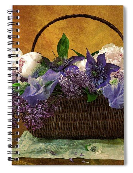 Home Grown Floral Bouquet Spiral Notebook