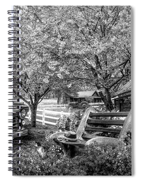 Home Is Where The Heart Is In Black And White Spiral Notebook