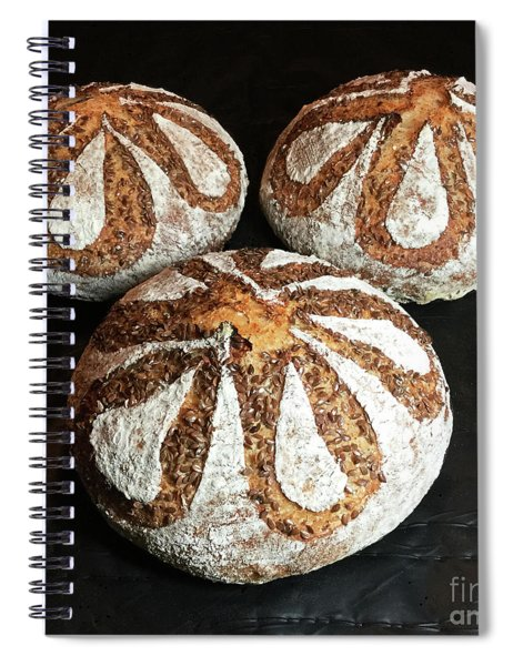 Honey Flax Sourdough Trio Spiral Notebook