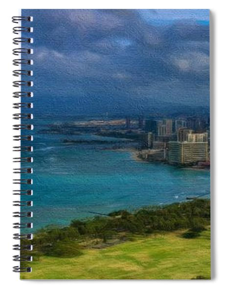 Honolulu Skyline Spiral Notebook