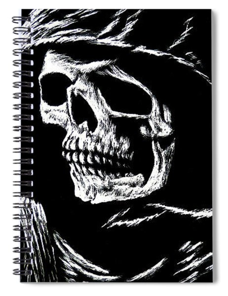 Hooded Skull Spiral Notebook