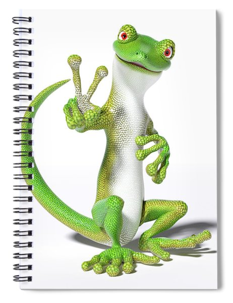 Hoping For Peace Gecko Spiral Notebook