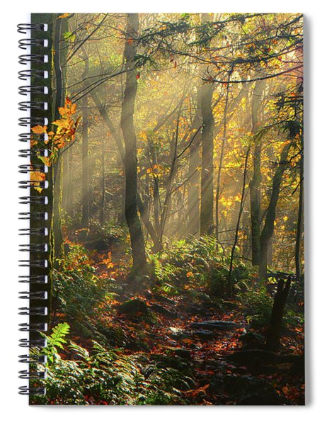 Horizontal Rays Of Sun After A Storm Spiral Notebook