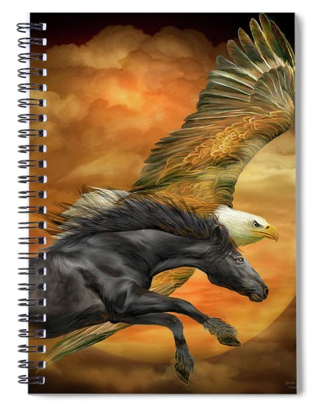 Horse And Eagle - Spirits Of The Wind  Spiral Notebook