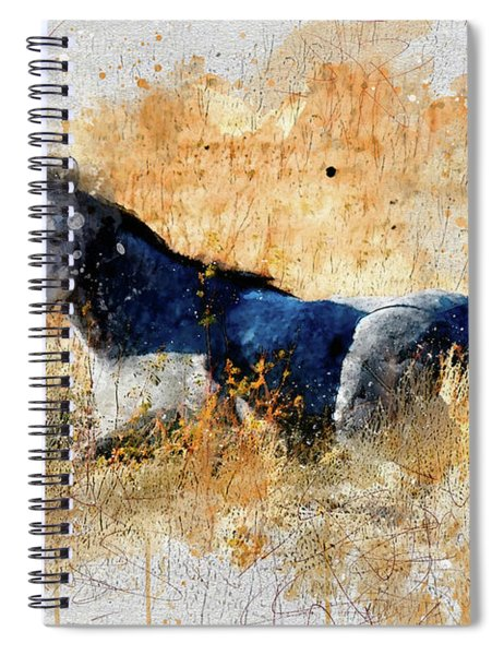 Horse Watercolor Spiral Notebook