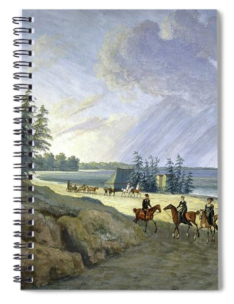 'horseriding Along The Baltic', 1810, Gouache On Paper. Spiral Notebook