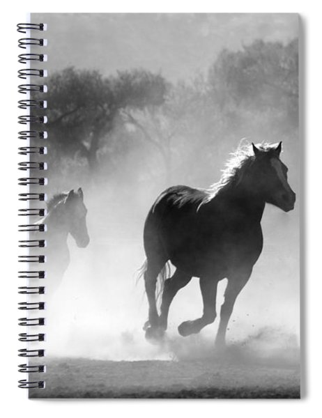 Horses On The Run Spiral Notebook