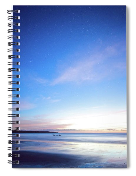 Horses Play In The Surf At Twilight Spiral Notebook