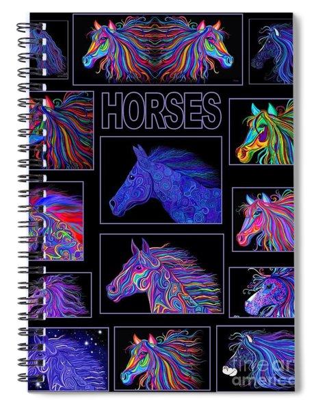 Horses Poster Spiral Notebook