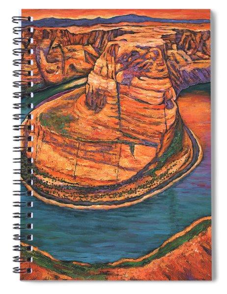 Horseshoe Bend Sunset Spiral Notebook