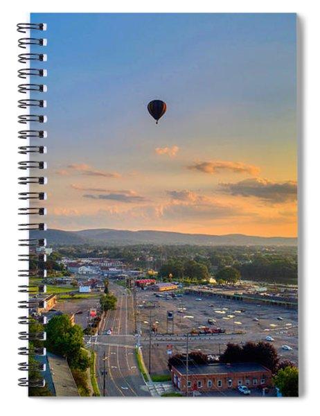 Hot Air Ballon Sunset Spiral Notebook