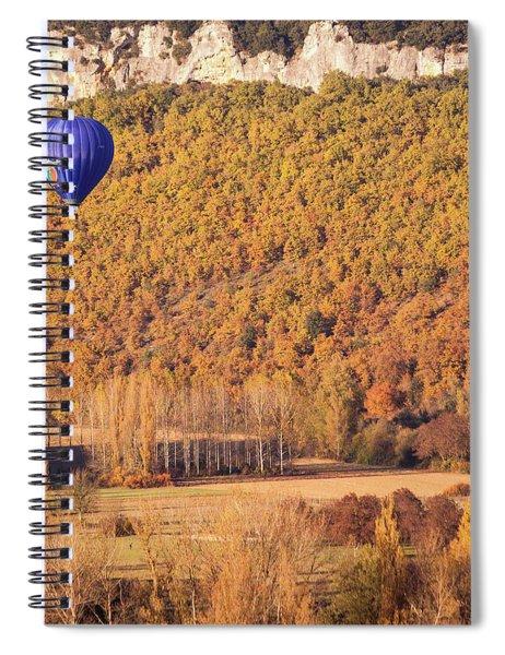 Hot Air Balloon, Beynac, France Spiral Notebook