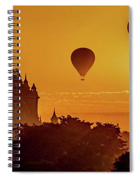Hot Air Balloons At Sunrise Spiral Notebook