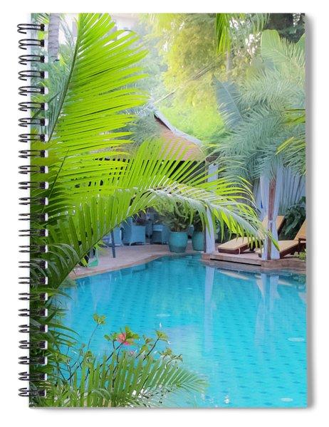 Hotel In Cambodia Spiral Notebook