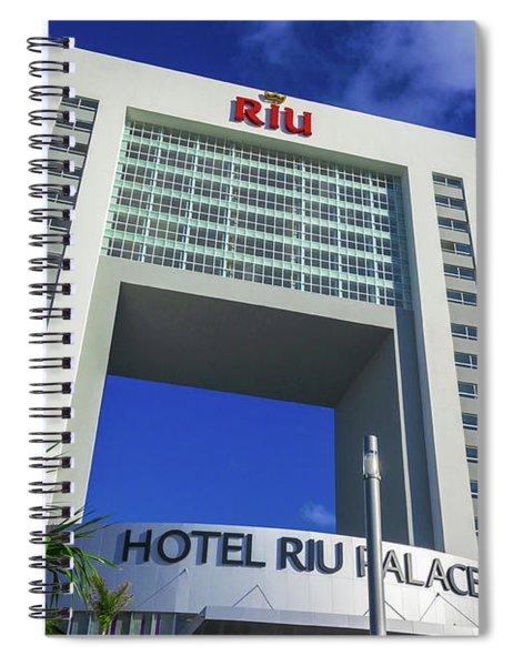 Hotel Riu Palace In Cancun Spiral Notebook