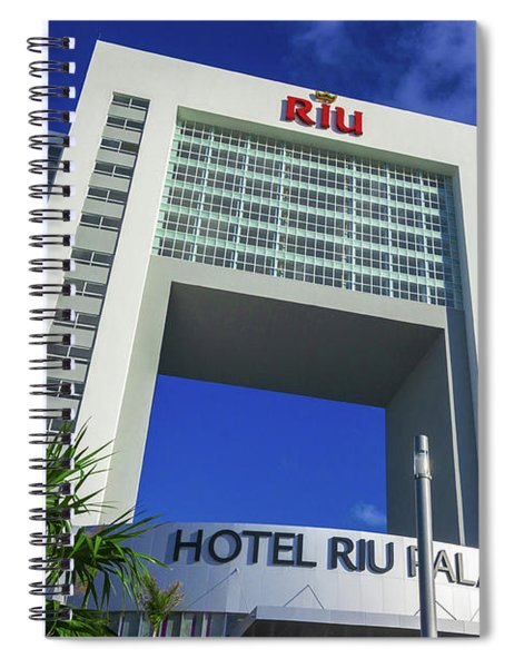 Hotel Riu Palace In Cancun Spiral Notebook
