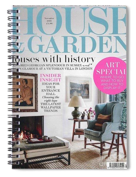 House And Garden November Spiral Notebook