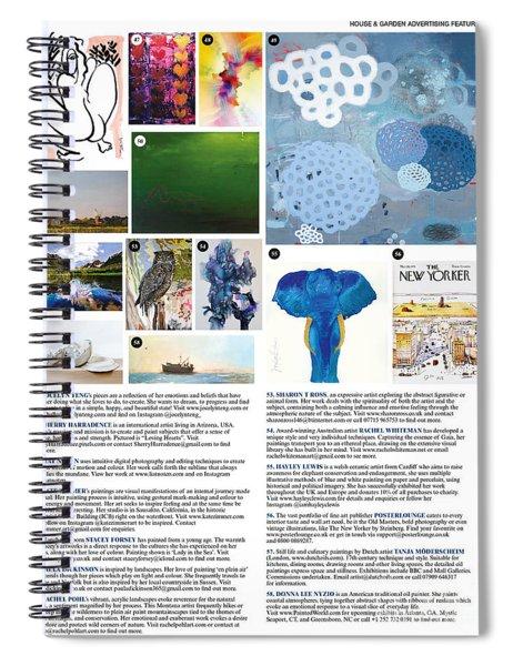 House And Garden October Spiral Notebook